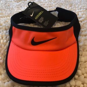 Nike Aerobill orange and black tennis visor - O/S